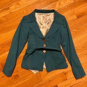 Nanette Lepore turquoise coat